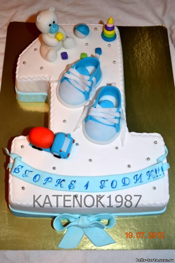 Торт на первый день рождения мальчику без мастики 78