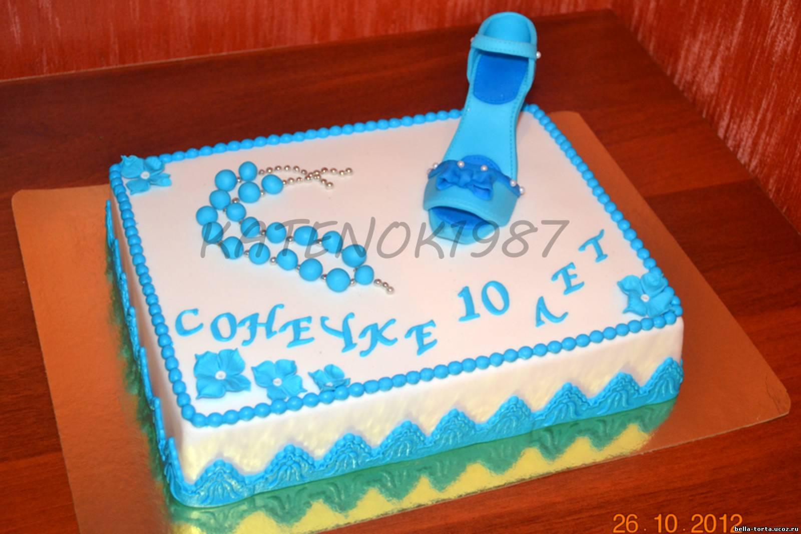 Торт 10 лет девочке своими руками