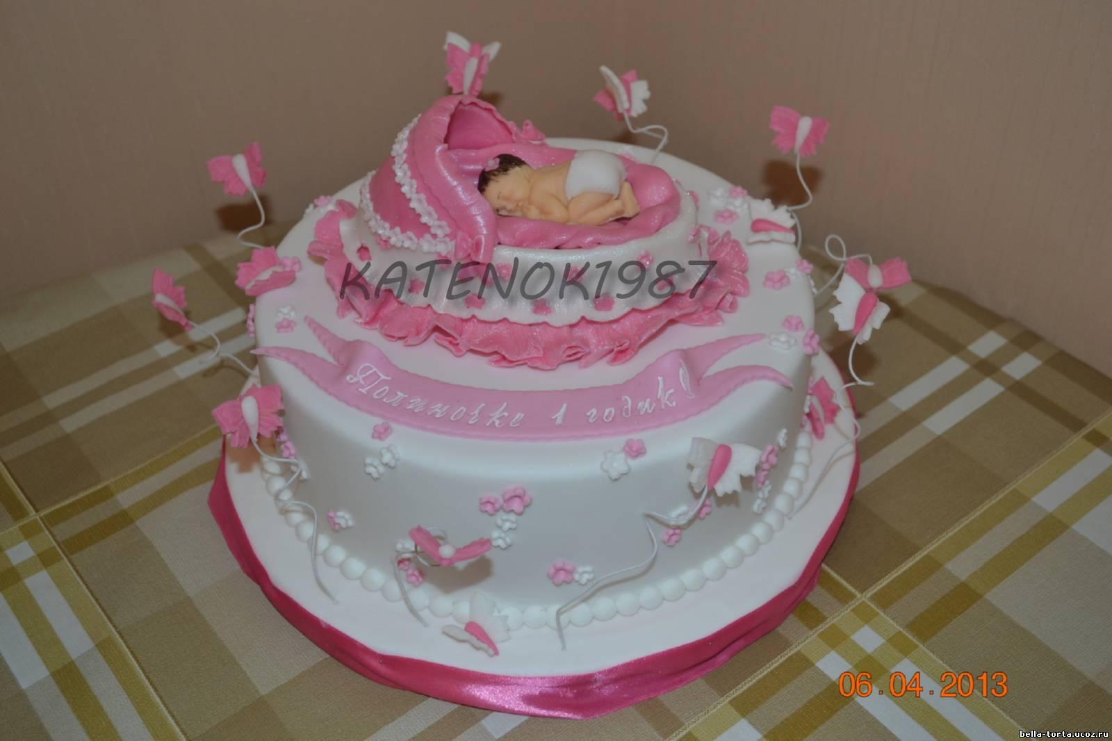 Торт своими руками на годик дочке