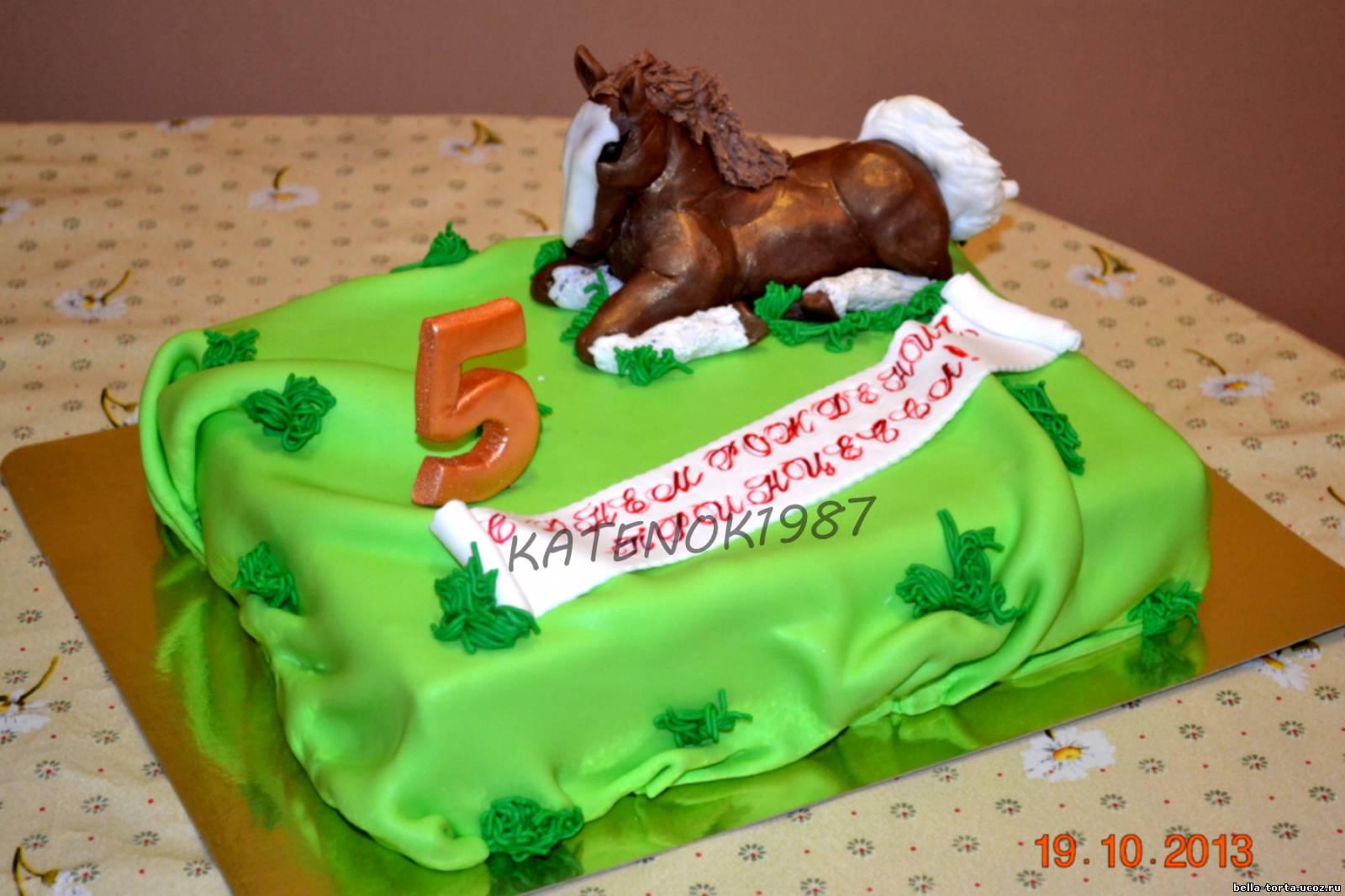 Торт в виде лошади фото 3